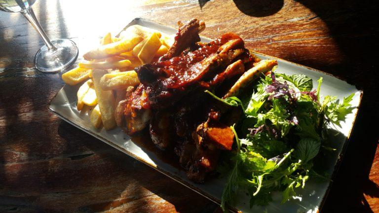 ニュージーランド ハミルトンレストラン スペアリブ