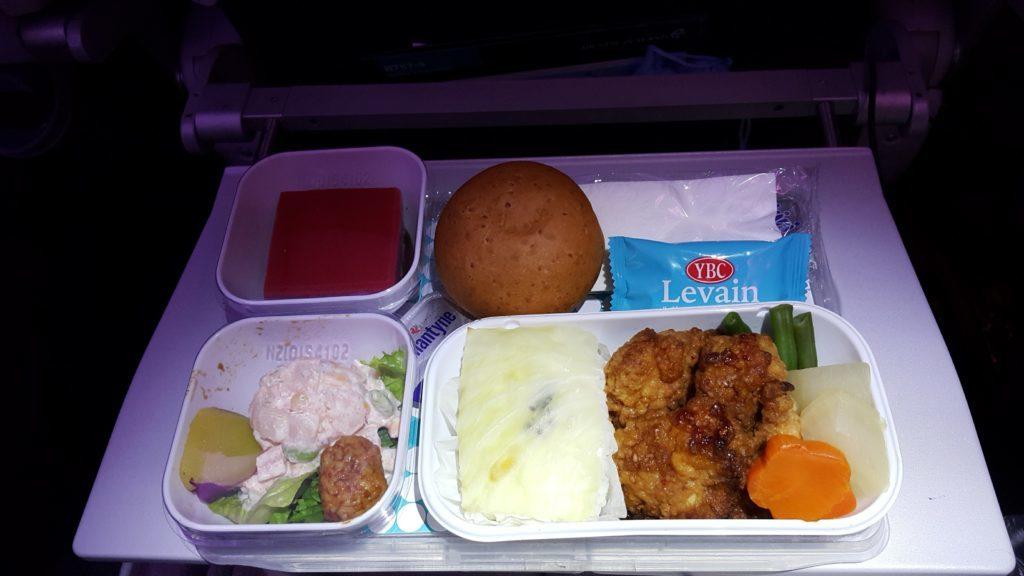 ニュージーランド航空 日本直行便 機内食 和食鶏肉