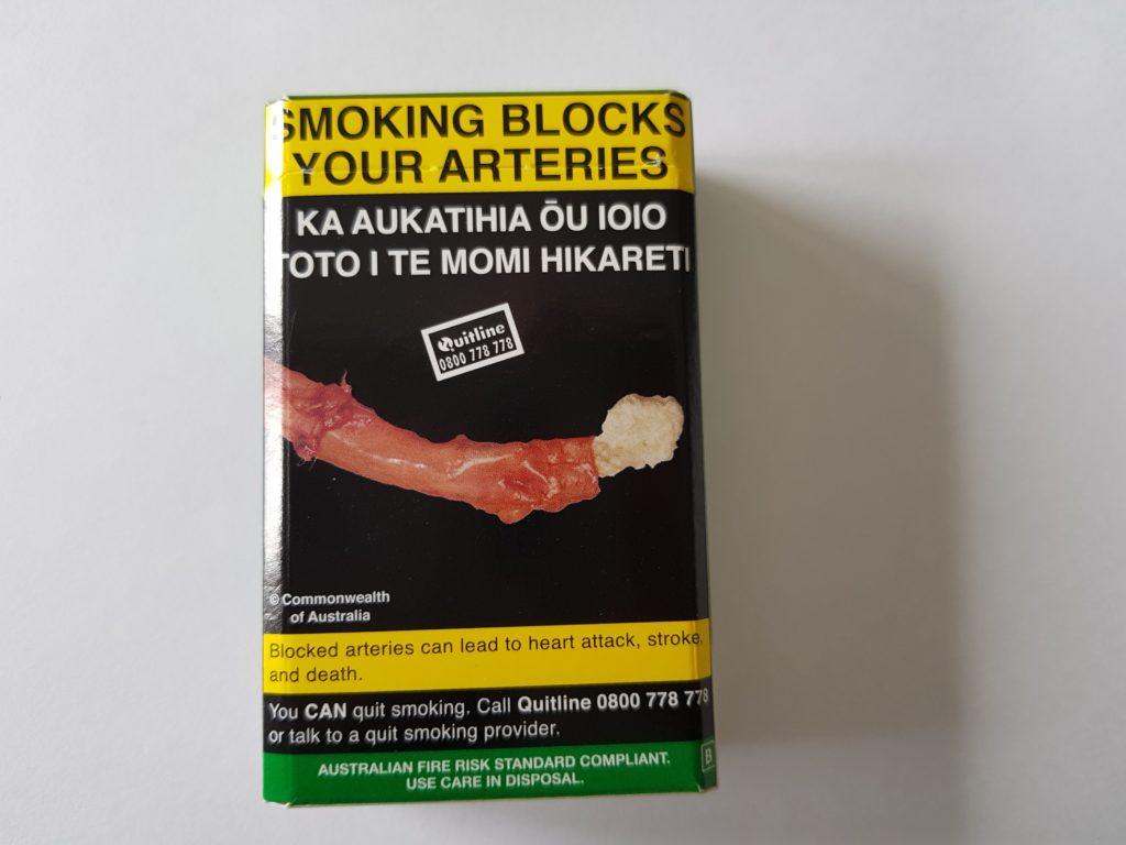 ニュージーランド たばこパッケージ後ろ