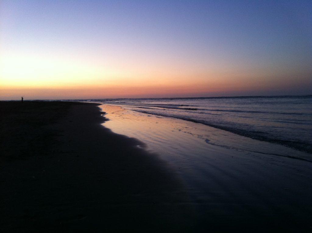 ラグラン釣り ビーチからの夕焼け