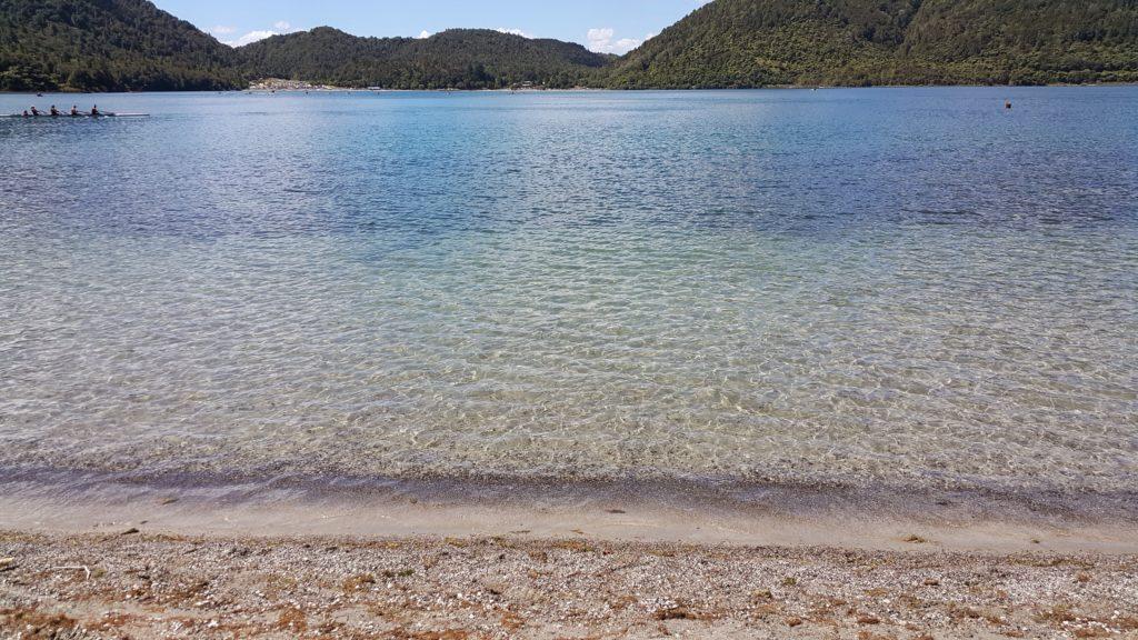 ニュージーランド ロトルアの湖ブルーレイク