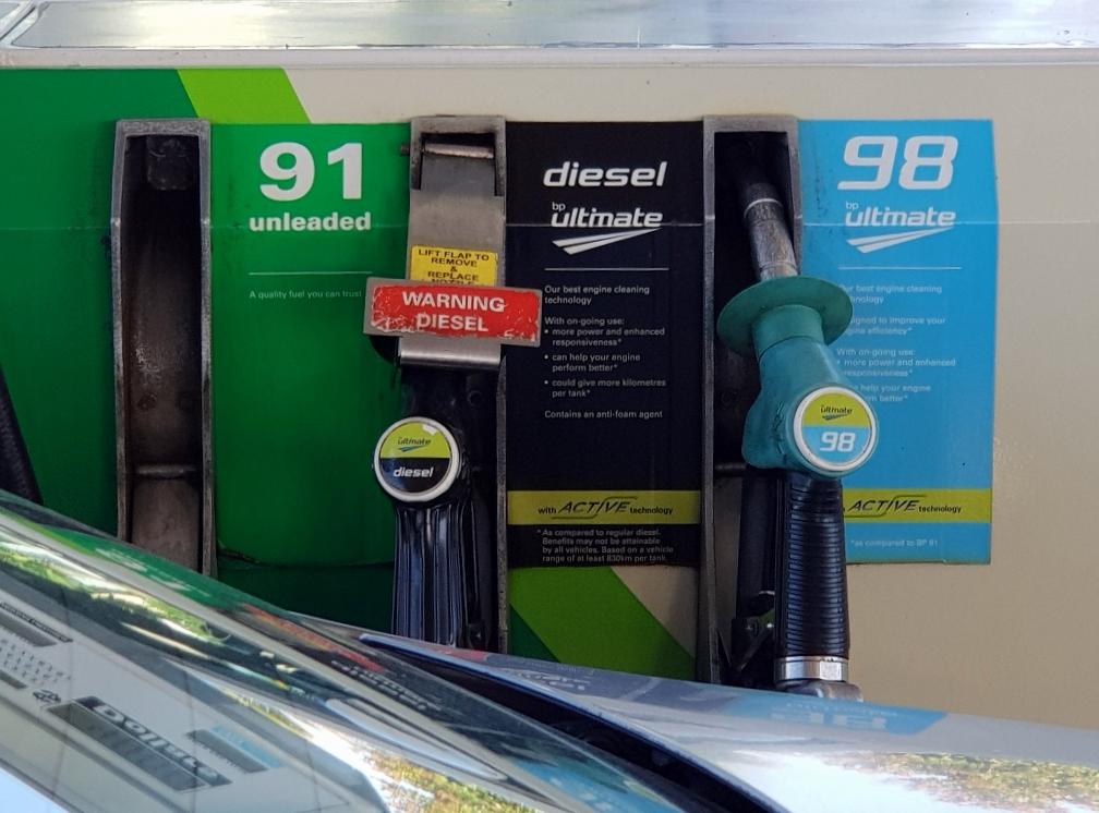ニュージーランド ガソリンスタンド ガソリンの種類