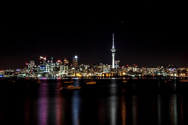 ニュージーランド オークランド 夜景