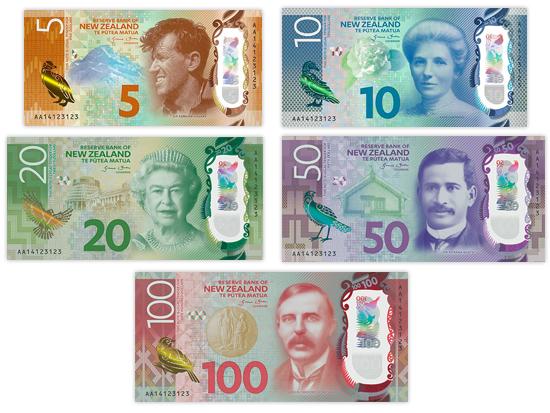 ニュージーランドのお札・紙幣