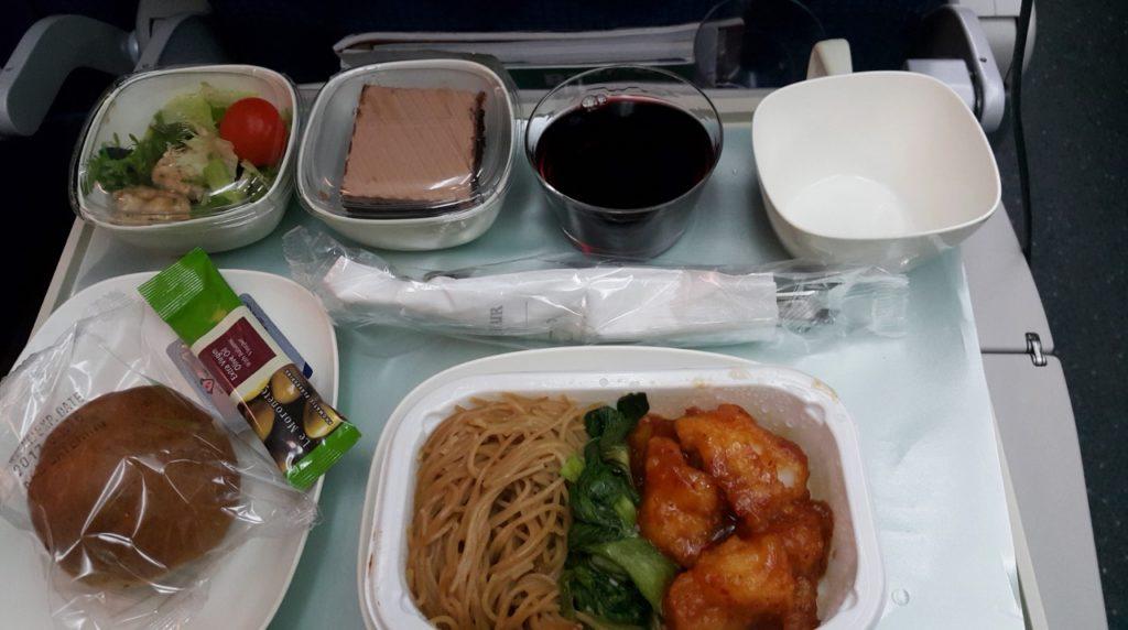 ニュージーランド大韓航空機内食